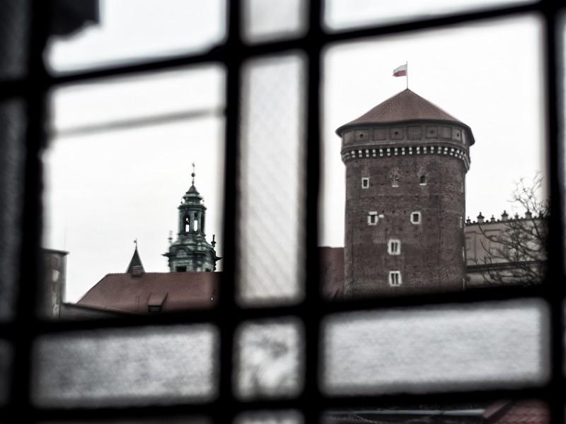 Kraków Wawel fotografie z nietypowych ujęć