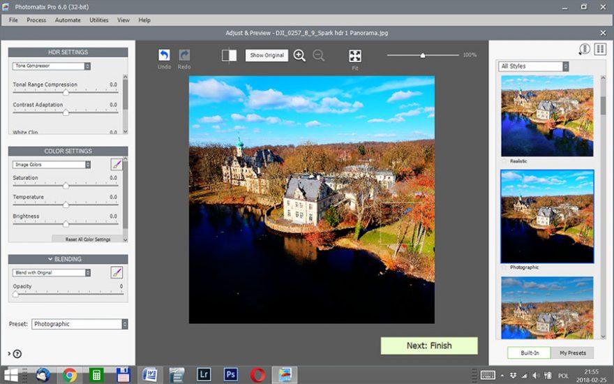 Photomatrix Pro Zdjęcia lotnicze